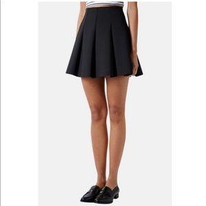 Topshop Raw Edge Skater Skirt